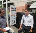 João Zaine e o coordenador de Marketing do Shopping RC, Eduardo Valderano.