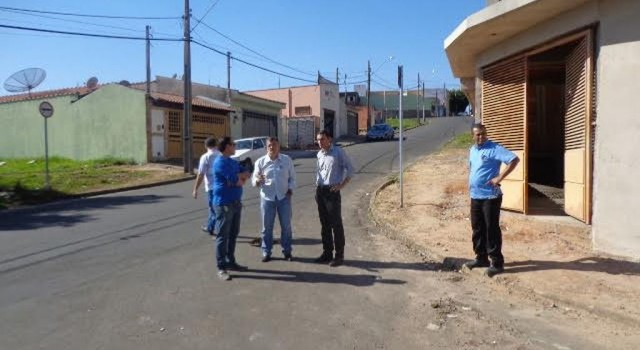 Anderson, Chiossi e equipe da Secretaria Municipal de Mobilidade no Cervezão