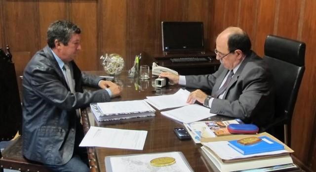 Júlio Lopes em reunião com João Caramez no Palácio dos Bandeirantes - SP