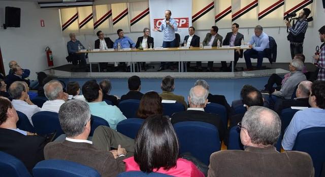 A crise econômica foi o tema do debate de Skaf com empresários na sede da Ciesp