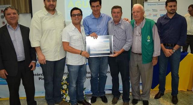 Geraldo Pereira, Júlio Lopes e Waldemar Bóbbo representaram RC na entrega de certificado