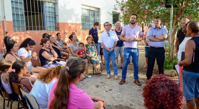 Rafael Andreeta com o prefeito Juninho da Padaria e o Francesco Rotolo (Daae) na Assistência