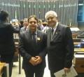Hernani Leonhardt com o deputado federal Nelson Marquezelli em Brasília